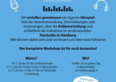 VERSCHOBEN: Hörspielworkshop