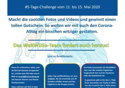 5-Tage-Challenge: Mai – Das WeltWEGe-Team fordert euch heraus!