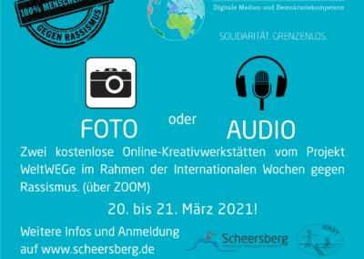 Internationale Wochen gegen Rassismus: Foto und Audio Online-Kreativwerkstatt