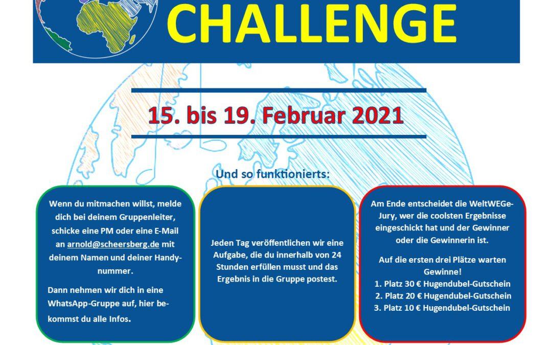 5-Tage-Challenge vom 15. bis 19. Februar 2021