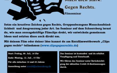 Scheersberg Seminar 9.-12. Juli – Mach dich stark gegen Rechts
